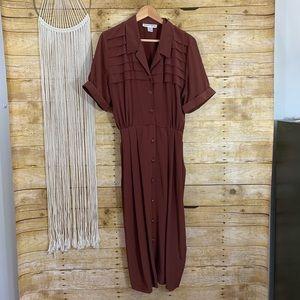 Vintage Hana Sung Button Down Dress